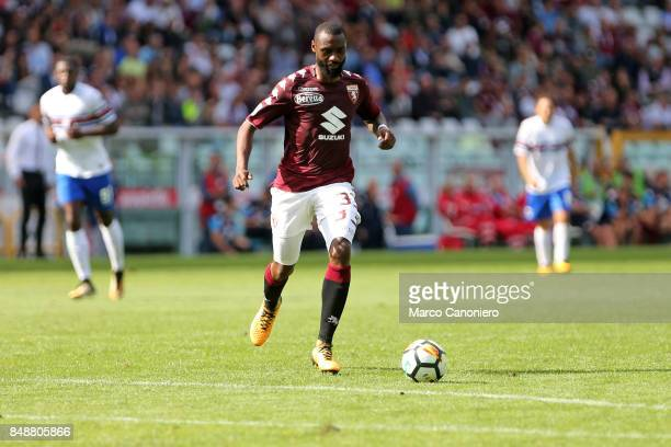 Nicolas N'Koulou of Torino FC in action during the Serie A football match between Torino Fc and Uc Sampdoria .