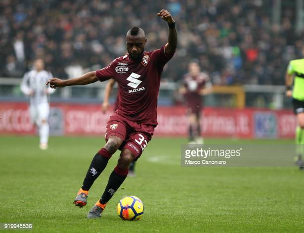 Nicolas N'Koulou of Torino FC in action during the Serie A football match between Torino Fc and Juventus Fc. Juventus Fc wins 1-0 over Torino Fc.