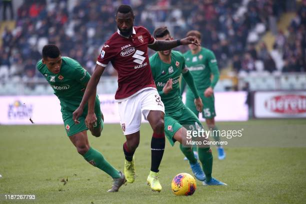Nicolas N'Koulou of Torino FC in action during the Serie A match between Torino Fc and Acf Fiorentina. Torino Fc wins 2-1 over Acf Fiorentina.