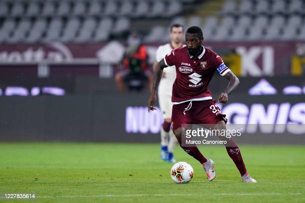 Nicolas N'Koulou of Torino FC in action during the Serie A match between Torino Fc and As Roma. As Roma wins 3-2 over Torino Fc.