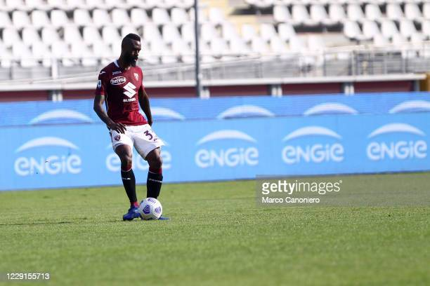 Nicolas N'Koulou of Torino FC in action during the Serie A match between Torino Fc and Cagliari Calcio. Cagliari Calcio wins 3-2 over Torino Fc.