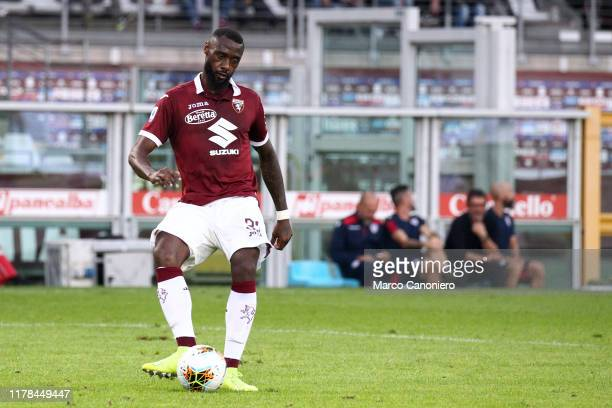 Nicolas N'Koulou of Torino FC in action during the the Serie A match between Torino Fc and Cagliari Calcio. The match end in a tie 1-1.
