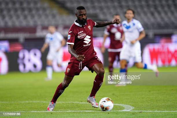 Nicolas N'Koulou of Torino FC in action during the the Serie A match between Torino Fc and Brescia Calcio. Torino Fc wins 3-1 over Brescia Calcio.