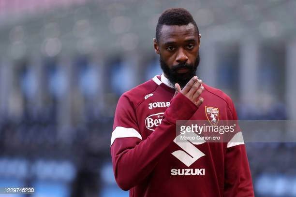 Nicolas N'Koulou of Torino FC looks on before the Serie A match between Fc Internazionale and Torino Fc. Fc Internazionale wins 4-2 over Torino Fc.