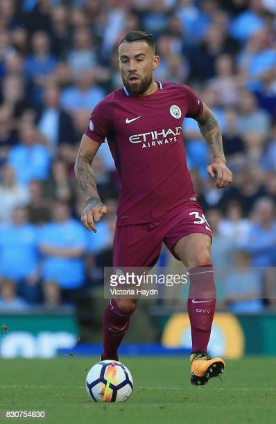 Nicolas Otamedi of Manchester City in action during the Premier League match between Brighton and Hove Albion and Manchester City at the Amex Stadium...