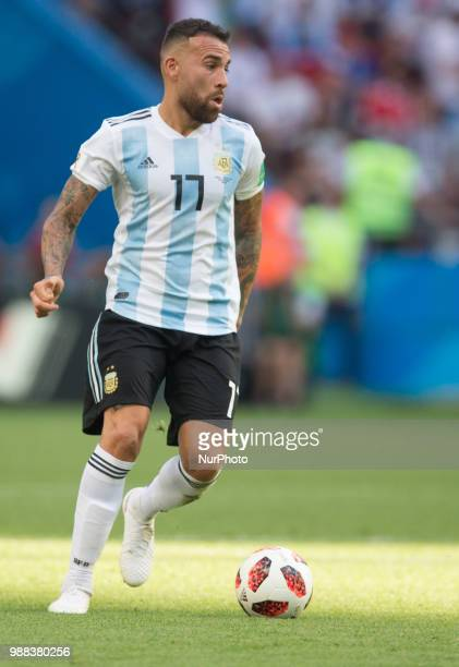 Nicolas Otamendi of Argentina during the 2018 FIFA World Cup Russia Round of 16 match between France and Argentina at Kazan Arena on June 30 2018 in...