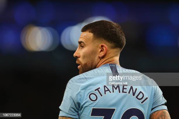 Nicolas Otamendi of Manchester City during the Premier League match between Manchester City and AFC Bournemouth at Etihad Stadium on December 1 2018...