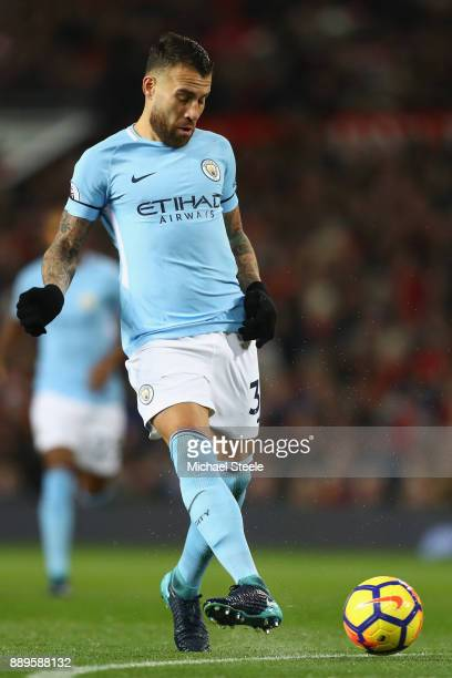 Nicolas Otamendi of Manchester City during the Premier League match between Manchester United and Manchester City at Old Trafford on December 10 2017...