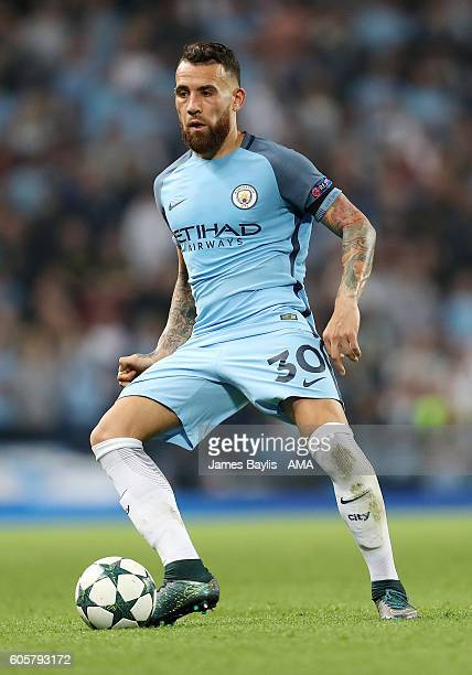 Nicolas Otamendi of Manchester City during the UEFA Champions League match between Manchester City and VfL Borussia Moenchengladbach at Etihad...