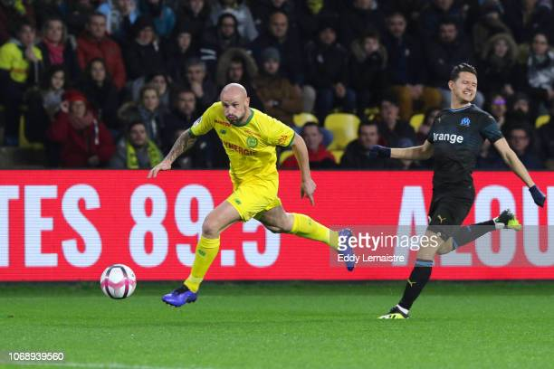 Nicolas Pallois of Nantes during the French Ligue 1 match between FC Nantes and Olympique de Marseille on December 5 2018 in Nantes France