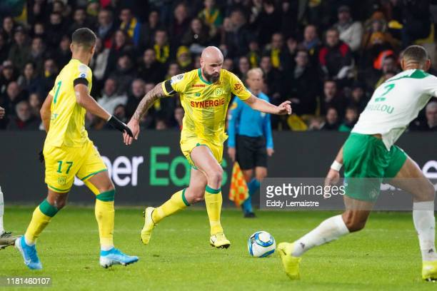 Nicolas PALLOIS of Nantes during the Ligue 1 match between Nantes and Saint Etienne at Stade de la Beaujoire on November 10 2019 in Nantes France