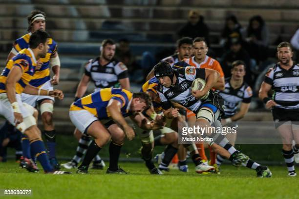 Nicolas Palmer of Hawkes Bay attacking the line during the round two Mitre 10 Cup match between Bay of Plenty and Hawke's Bay at Rotorua...