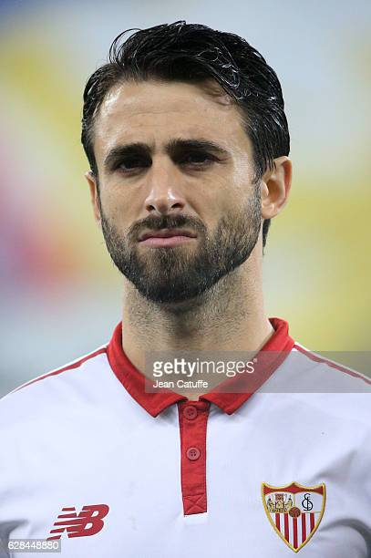 Nicolas Pareja of Sevilla FC looks on before the UEFA Champions League match between Olympique Lyonnais and Sevilla FC at Parc OL on December 7 2016...