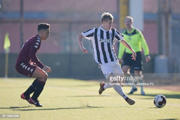 Nicolas Penner during the U17 match between Torino FC and Juventus on January 28 2018 in Turin Italy