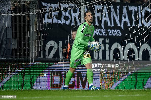 Nicolas Penneteau goalkeeper of Sporting Charleroi pictured during Jupiler Pro League match between RCS Charleroi and KRC GENK on October 26 2016 in...