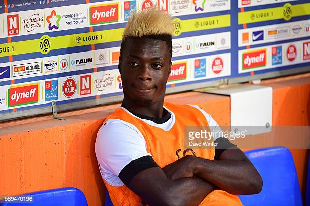 Nicolas Pepe of Angers during the football Ligue 1 match between Montpellier and Angers at Stade de la Mosson on August 13, 2016 in Montpellier,...