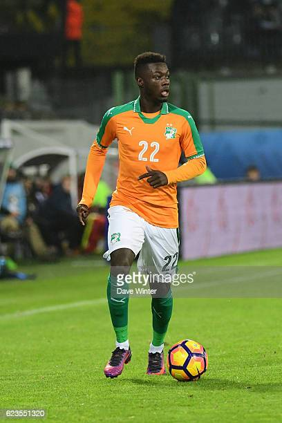 Nicolas Pepe of Ivory Coast during the International friendly match between France and Ivory Coast at Stade BollaertDelelis on November 15 2016 in...