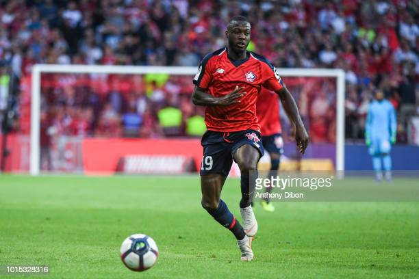 Nicolas Pepe of Lille during the French Ligue 1 match between Lille and Rennes at Stade Pierre Mauroy on August 11 2018 in Lille France