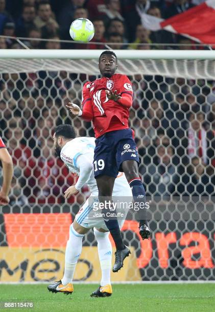 Nicolas Pepe of Lille during the French Ligue 1 match between Lille OSC and Olympique de Marseille at Stade Pierre Mauroy on October 29 2017 in Lille...