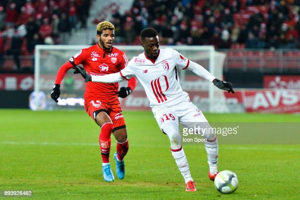Nicolas Pepe of Lille during the Ligue 1 match between Dijon FCO and Lille OSC at Stade Gaston Gerard on December 16 2017 in Dijon