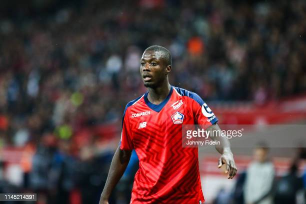 Nicolas Pepe of Lille during the Ligue 1 match between Lille and Angers on May 18 2019 in Lille France