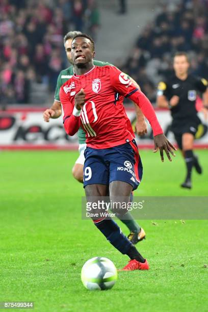 Nicolas Pepe of Lille during the Ligue 1 match between Lille OSC and AS SaintEtienne at Stade Pierre Mauroy on November 17 2017 in Lille France