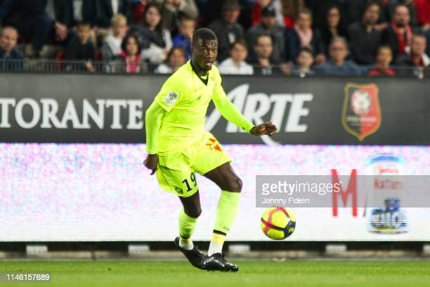 Nicolas Pepe of Lille during the Ligue 1 match between Stade Rennais football club and LOSC Lille Association on May 24 2019 in Rennes France