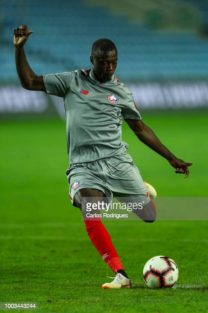 Nicolas Pepe of Lille during the match between Everton FC and LOSC Lille for Algarve Football Cup 2018 at Estadio do Algarve on July 21 2018 in Faro...