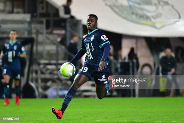 Nicolas Pepe of Lille during the rescheduled Ligue 1 match between Amiens SC and Lille OSC at Stade de la Licorne on November 20 2017 in Amiens France