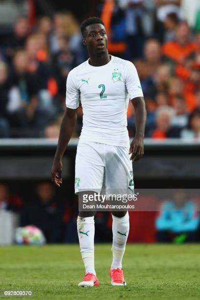 Nicolas Pepe of the Ivory Coast in action during the International Friendly match between the Netherlands and Ivory Coast held at De Kuip or Stadion...