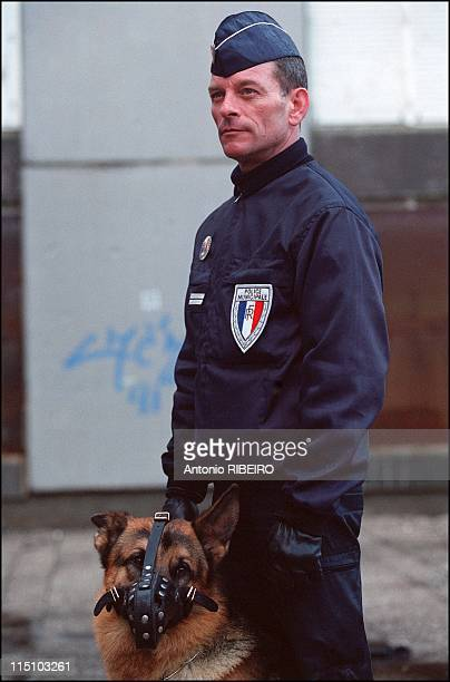 Nicolas Peruchot mayor of Blois and his municipal Police in France on February 20 2002