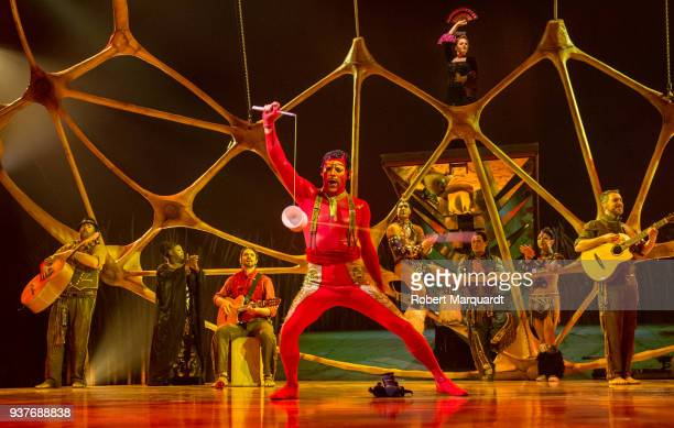 Nicolas Pires performs on stage for the Cirque du Soleil 'Totem' show on March 22 2018 in Barcelona Spain