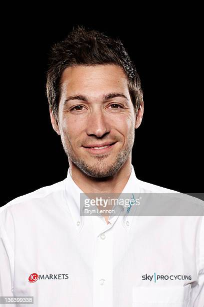 Nicolas Portal of Team Sky poses for a portrait session ahead of the 2012 road season at the Crowne Plaza Hotel in Milan Italy