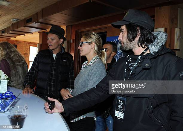 Nicolas Potts Jessica Hart and Jay Lyon at the Island Def House of Hype Hospitality Suite on January 16 2009 in Park City Utah