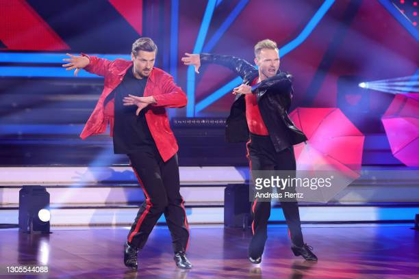 """Nicolas Puschmann and Vadim Garbuzov perform on stage during the 1st show of the 14th season of the television competition """"Let's Dance"""" on March 05,..."""