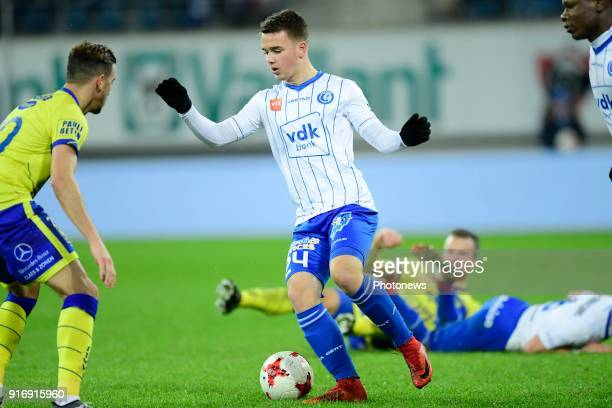 Nicolas Raskin midfielder of KAA Gent in action during the Jupiler Pro League match between KAA Gent and Sint Truidense VV at the Ghelamco Arena on...