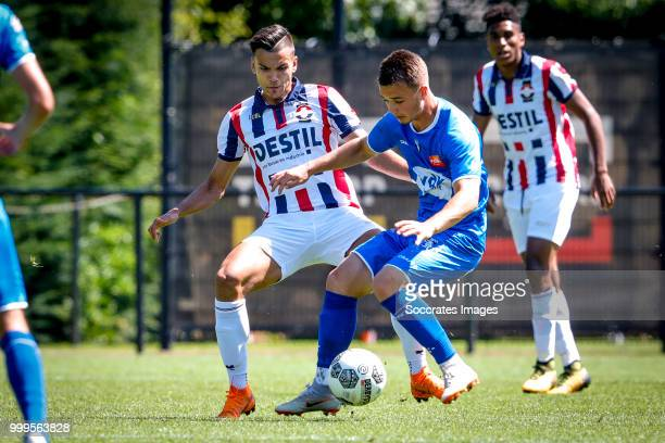 Nicolas Raskin of KAA Gent Atakan Akkaynak of Willem II during the match between Willlem II v KAA Gent on July 14 2018 in TILBURG Netherlands