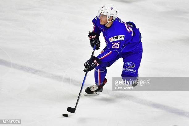 Nicolas Ritz of France during the EIHF Ice Hockey Four Nations tournament match between France and Slovenia on November 9 2017 in Cergy France