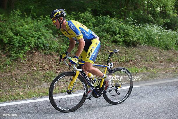 Nicolas Roche of Ireland and TinkoffSaxo in action during the eleventh stage of the 2014 Giro d'Italia a 249km medium mountain stage between...
