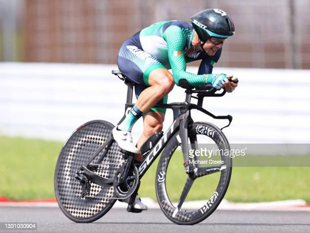 Nicolas Roche of Team Ireland rides during the Men's Individual time trial on day five of the Tokyo 2020 Olympic Games at Fuji International Speedway...