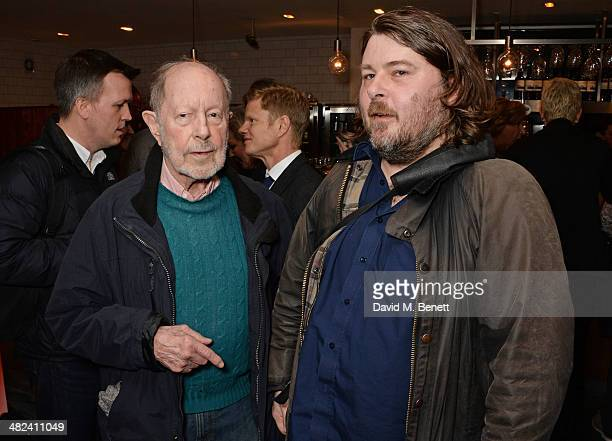 Nicolas Roeg and Ben Wheatley attend the launch of the 3rd annual 'Made In Britain' season featuring the films of producer Jeremy Thomas at the BFI...