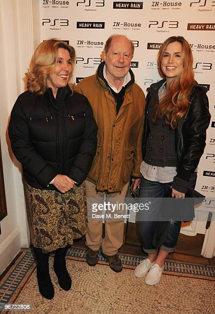 Nicolas Roeg and family attend the launch of 'Heavy Rain' for PlayStation 3 at The Electric Cinema on February 15, 2010 in London, England.