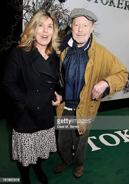 Nicolas Roeg and Harriet Harper attend a special screening of 'Stoker' at Curzon Soho on February 17, 2013 in London, England.