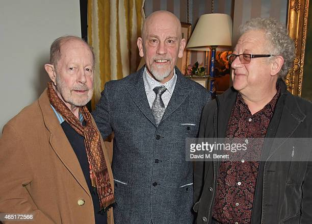 Nicolas Roeg John Malkovich and Jeremy Thomas attend the premiere of A Postcard From Istanbul directed by John Malkovich in collaboration with St...