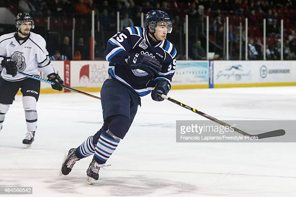 Nicolas Roy of the Chicoutimi Sagueneens skates against the Gatineau Olympiques during a game on February 20 2015 at Robert Guertin Arena in Gatineau...