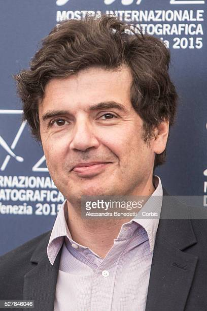 Nicolas Saada attends the photocall pf movie Taj Mahal presented in competition during the 72nd International Venice Film Festival