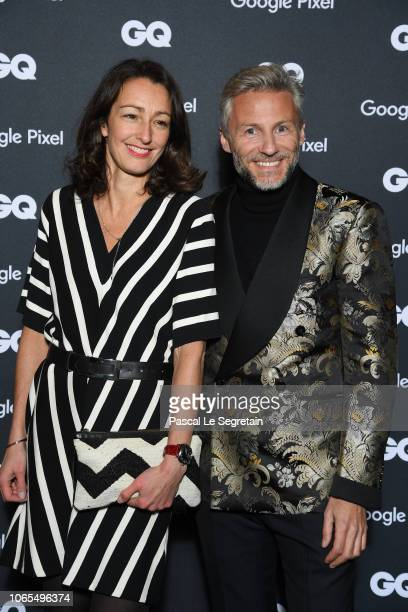 Nicolas Salomon and a guest attend GQ Men Of The Year Awards 2018 at Centre Pompidou on November 19 2018 in Paris France