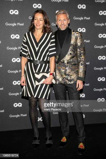 Nicolas Salomon and a guest attend GQ Men Of The Year Awards 2018 at Centre Pompidou on November 26 2018 in Paris France