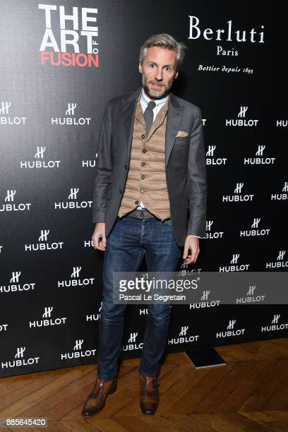 Nicolas Salomon attends the Hublot and Berluti unveil of two new watches at Hotel D'Evreux on December 4 2017 in Paris France