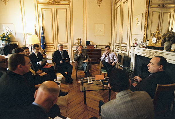 Nicolas sarkozy at his office of the ministry of interior pictures